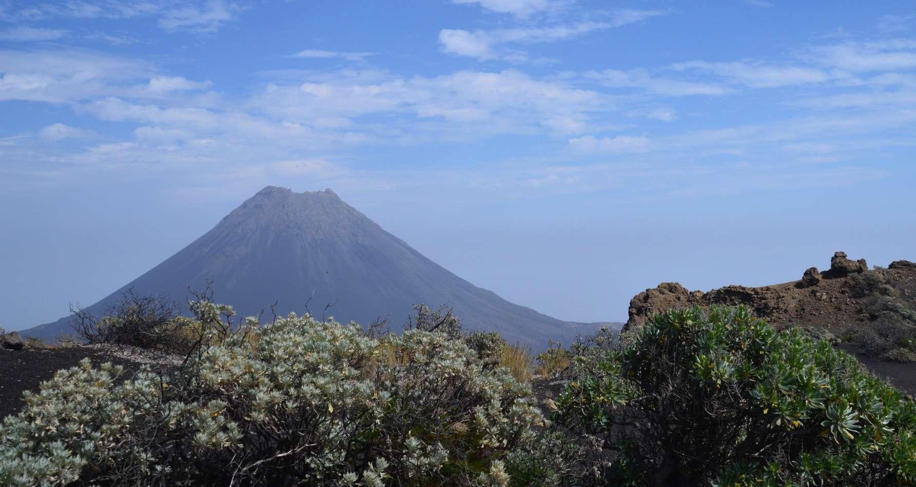 Volcán Pico do Fogo, el punto más alto de Cabo Verde.